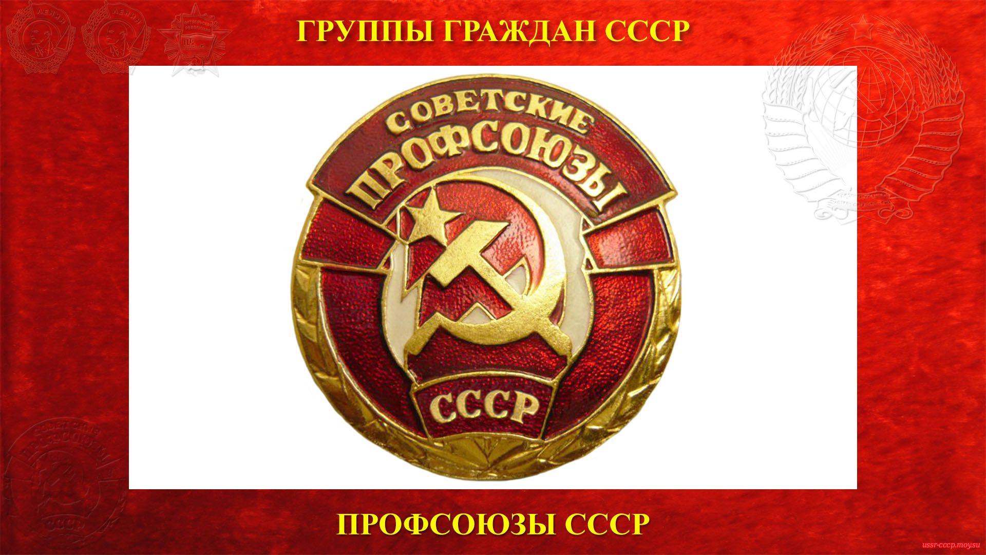 Профсоюз (Профессиональный союз) СССР — (1918) полное повествование))