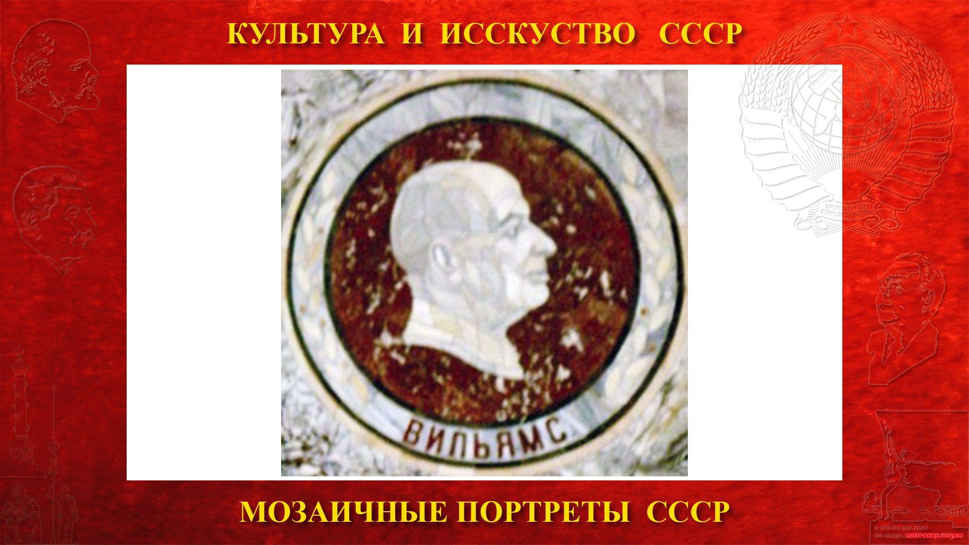 Мозаичный портретВильямсу В.Р.на Ленинских горах в ГЗ МГУ(Москва 1953) (повествование)