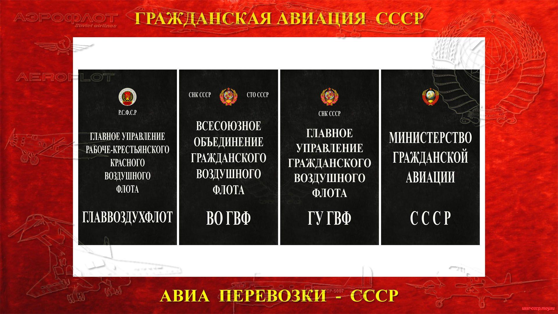 Гражданский флот в СССР —Авиа перевозки СССР (полное повествование)